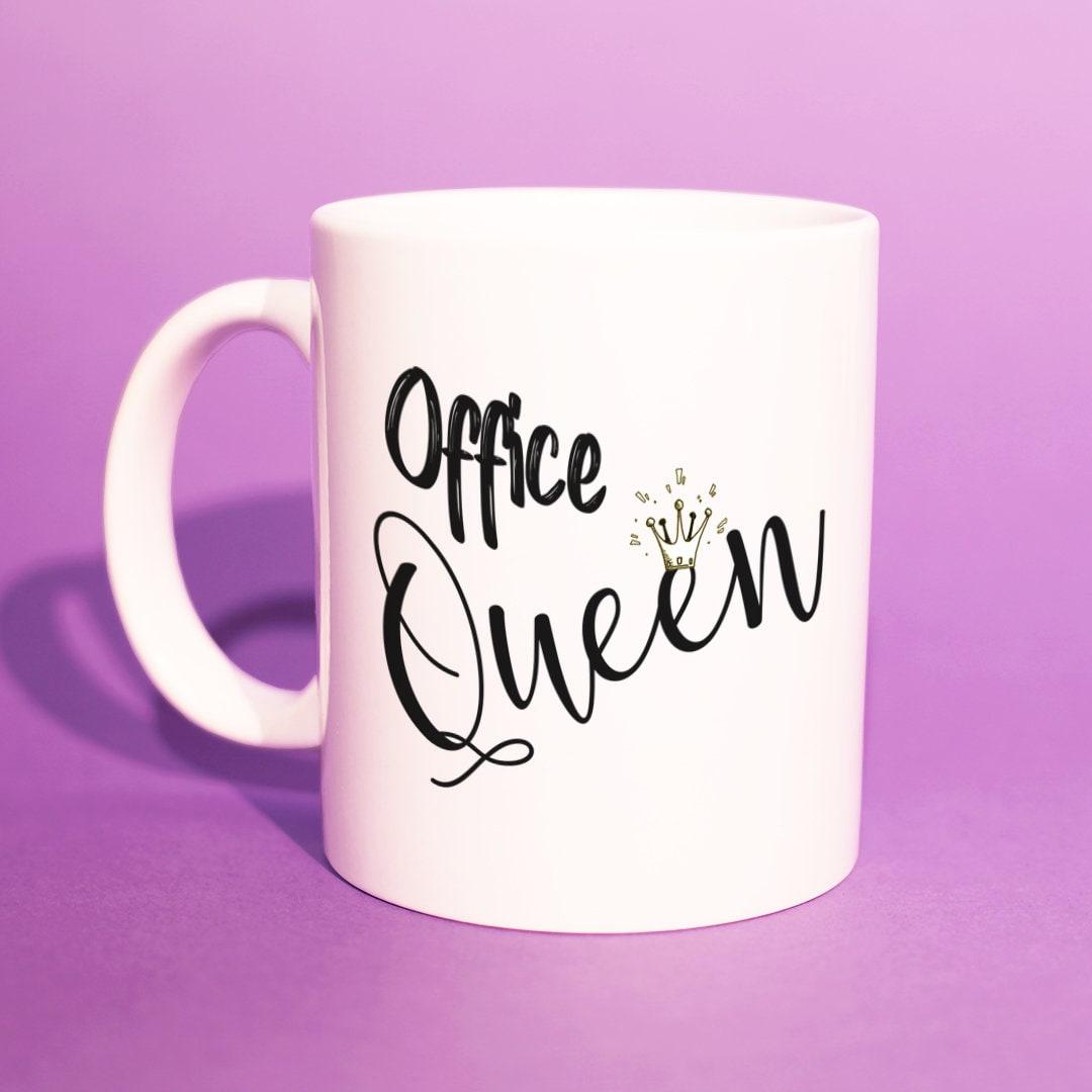 Büro-Geschenke für sie \' Büro Queen\' Becher | Etsy
