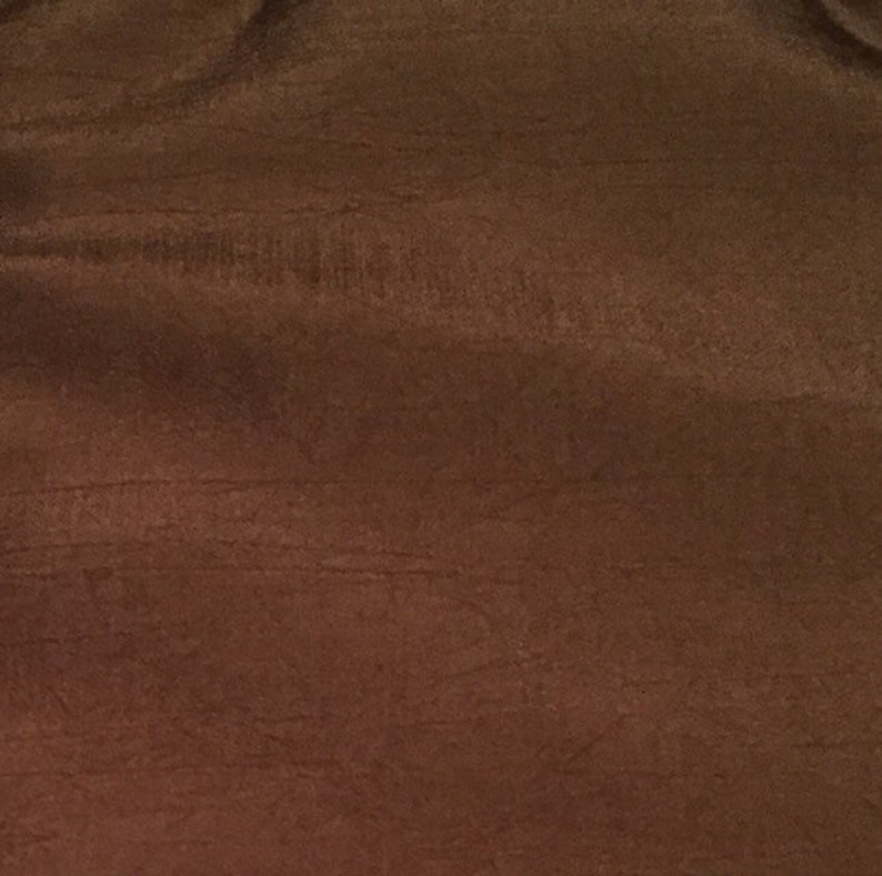 Chocolate Brown Raw Silk Fabric 45 wide