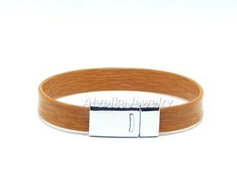 Natural 10mm leather bracelet