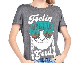 3c8d919a Feeling willie good graphic tees, graphic top, willie nelson, music, rock  and roll, willie graphic, cute top, t-shirt top, 2nd stocks