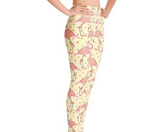 56737a57cddec Pink Flamingo Yoga Pants Leggings