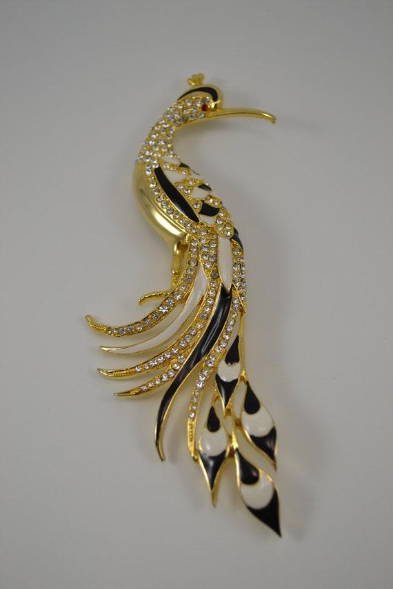 Stunning D'Orlan Bird of Paradise brooch