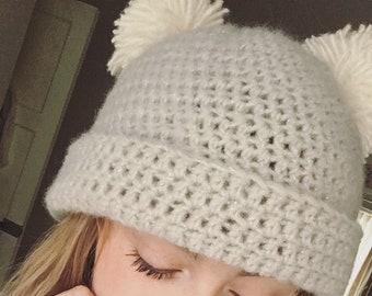 Handmade Double Pom Pom Hat