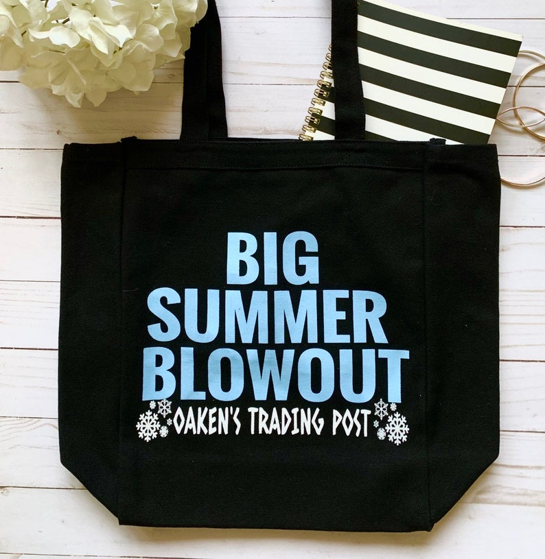 853fea119 Big Summer Blowout Funny Tote Bag Tote Bag Movie Canvas | Etsy