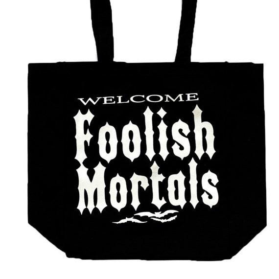 Canvas Bag Halloween Bag Disney World Trick or Treat Bag Haunted Mansion Bag Disney Bag Haunt Mansion Canvas Tote Bag Haunted Mansion