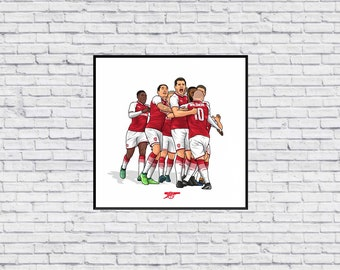 4aae1a81c Arsenal Group Celebration Kit in Wall Print