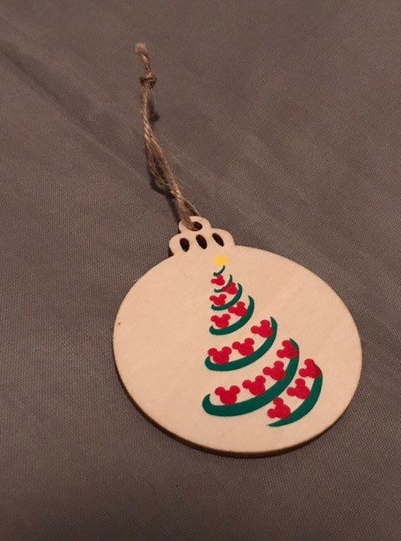 Wooden Christmas Tree Ornament Ornament Exchange Fish Exender Gifts Fe Gifts Disney Cruise Vacation Travel