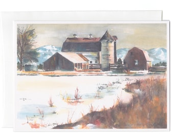 My Father's Farm, Set of 6 Greeting cards by Janice Walker Hall