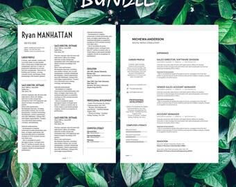 Buy 1 get 1 FREE - Savage Bundle Manhattan Michewa - Resume Templates - C -