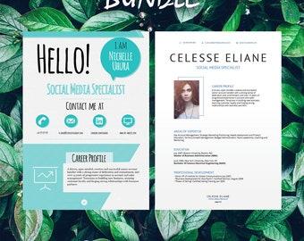 Buy 1 get 1 FREE - Savage Bundle Berenices Celesse - Resume Templates - CV -