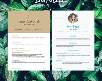Buy 1 get 1 FREE - Savage Bundle Diakodah Gemini - Resume Templates - CV -