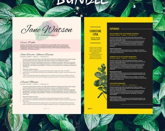 Buy 1 get 1 FREE - Savage Bundle Kiania Lyra - Resume Templates - CV -