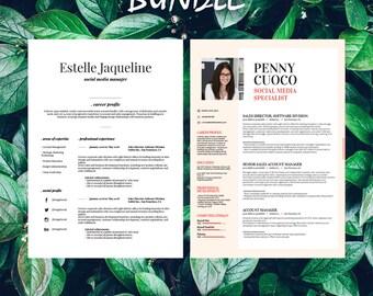 Buy 1 get 1 FREE - Savage Bundle Estelle Graffias - Resume Templates - CV -