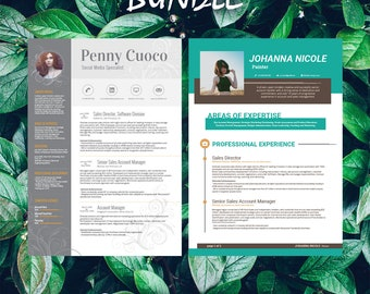 Buy 1 get 1 FREE - Savage Bundle Giennah Johanna - Resume Templates - CV -