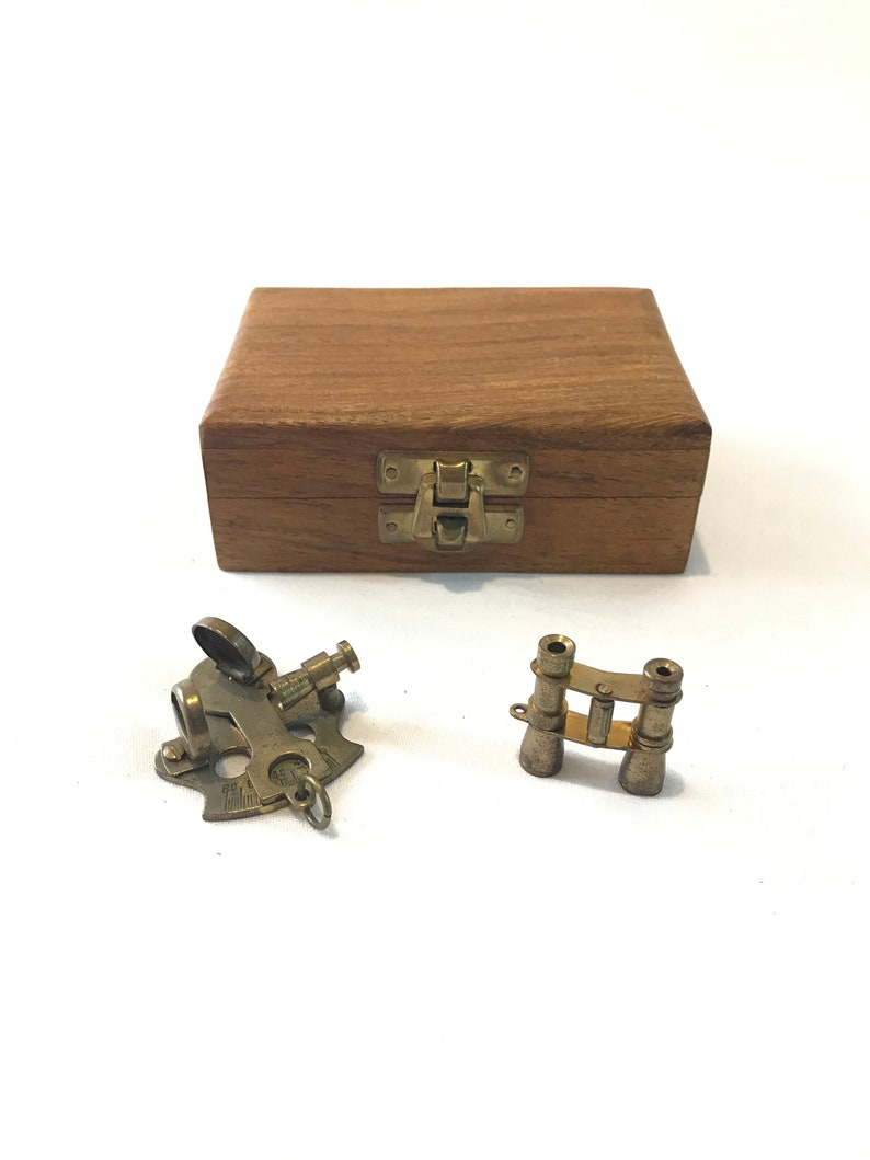Handmade Nautical Brass Working Sextant With Wooden Box Vintage Royal Marin Gift