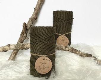 150 m. 100/% twisted cotton rope coil macram\u00e9 3 mm macram\u00e9 cotton yarn 3 mm macram\u00e9 cotton rope macram\u00e9 yarn Macram\u00e9 rope yellow