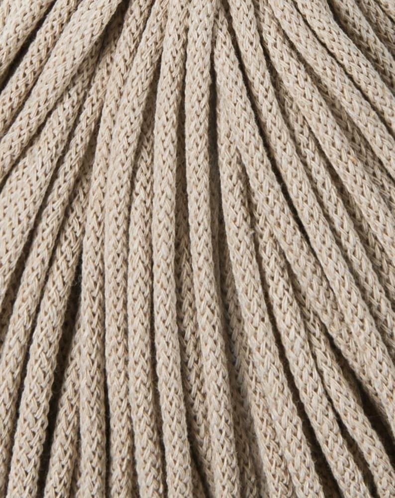 100 m macrame 108 yards Bobbiny macrame rope yarn macrame Multi Color chunky yarn 100m 5 mm BEIGE Cord cotton