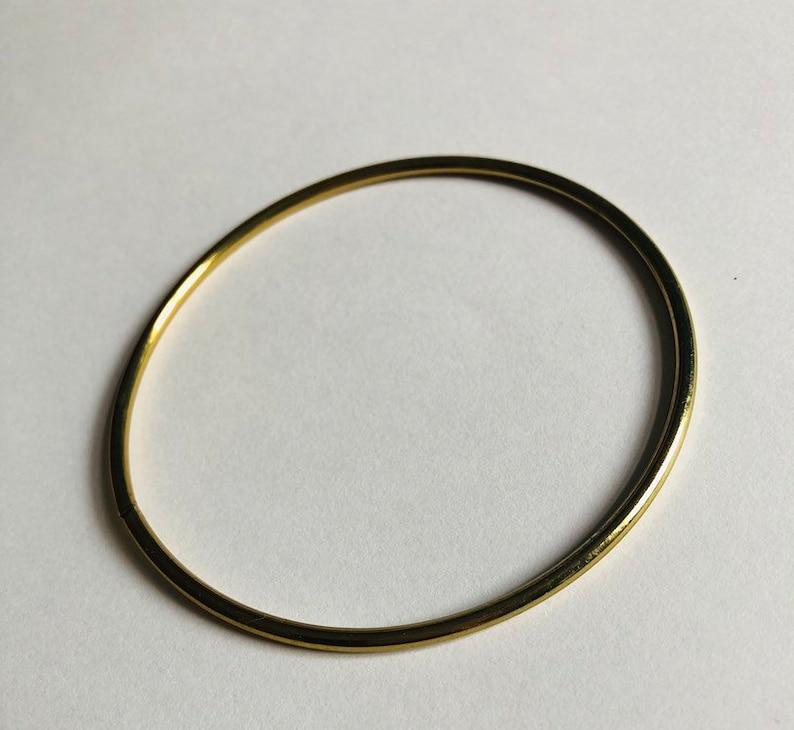 Dreamcatcher hoop gold 6 cm dream catcher brass plated ring macrame metal hoop at 2,3 inch