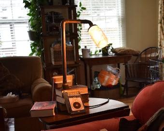 Copper book lamp