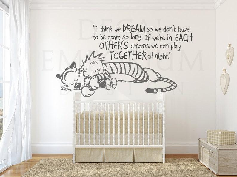 Calvin And Hobbes Sleeping Wall Decal