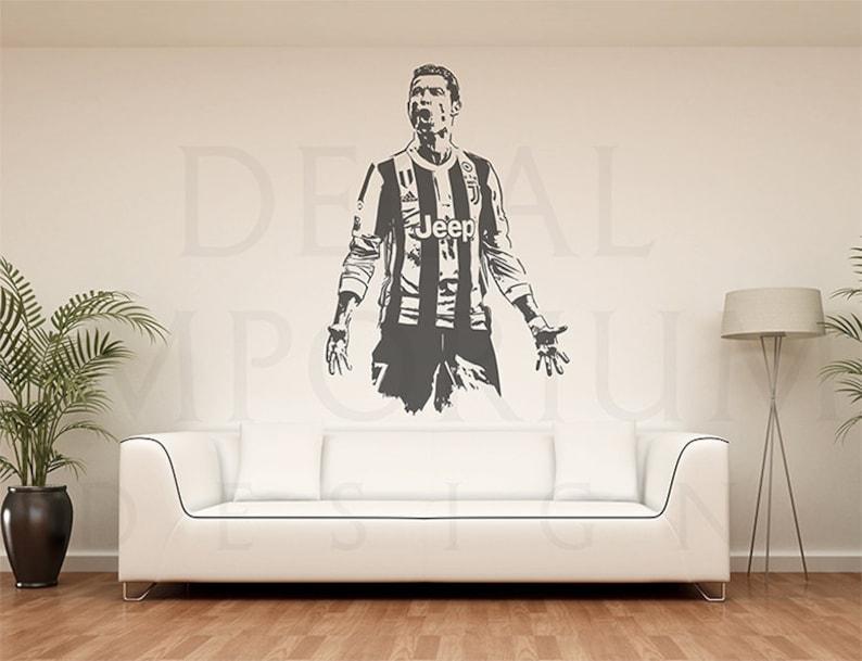 Cristiano Ronaldo Juventus Soccer Football Wall Decal Kids Boy Etsy