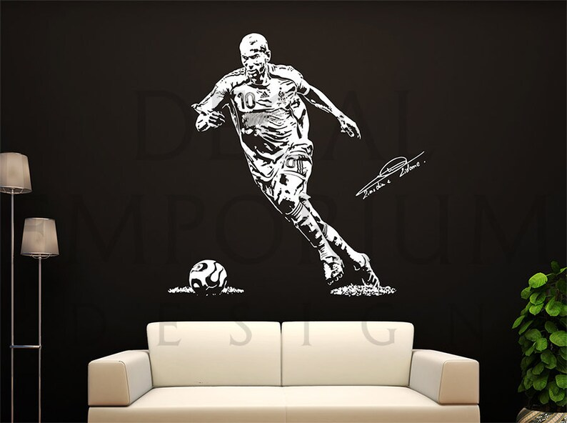 zinédine zidane france juventus real madrid soccer football   etsy