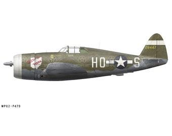"Airplane Decal - P-47D Thunderbolt ""Queen City Mama"" Decorative Vinyl Wall Art"