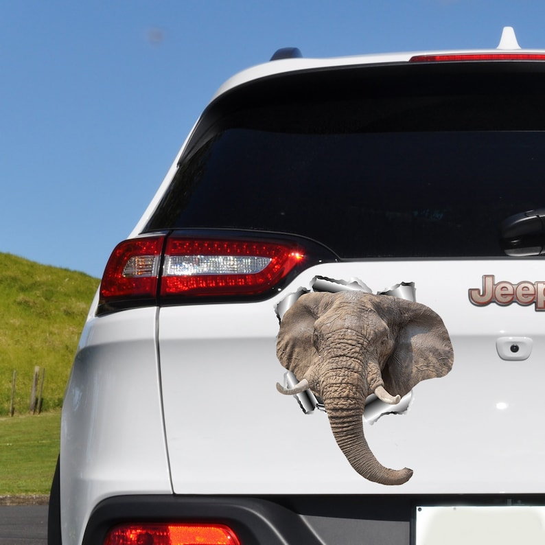 Elephant Car Decal Car Bumper Sticker 3d Decal Car Window Decal Car Decals Car Accessories Bumper Stickerpet Decal For Car O75