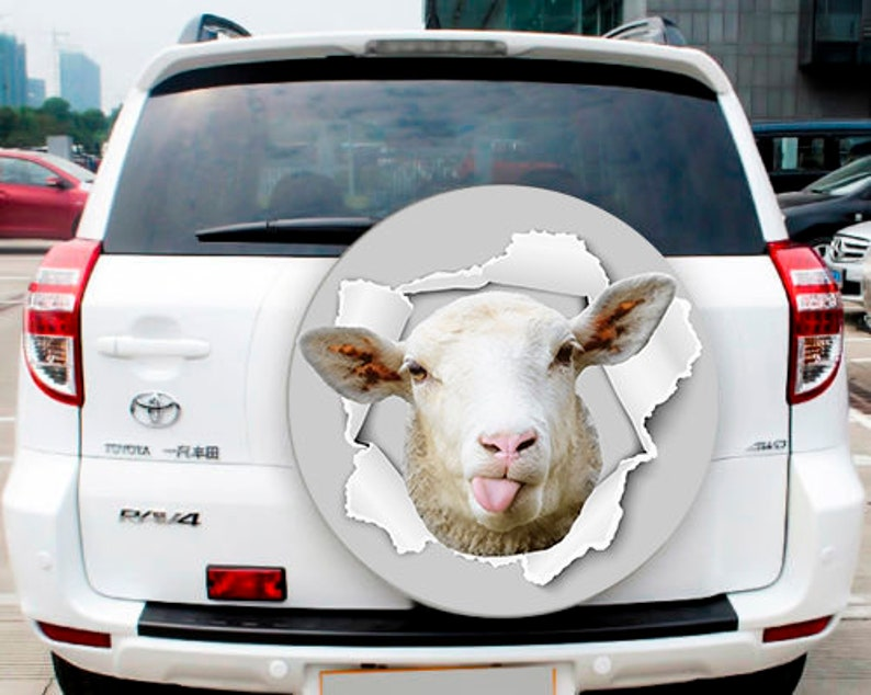 Car Graphics Sticker K7 Spare Wheel Cover Sticker Car Spare Tire Cover Sticker Sheep Car Decal Sheep Sticker Wheel  Cover Skin Decal