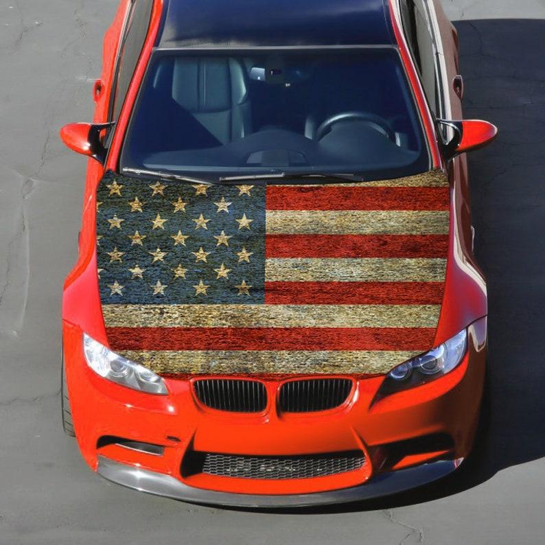 Car Sticker America Flag  Decal America Sticker Car Accessories Hood Wrap Decal Car Accessory Car Bumper Sticker LK8 Car Hood Decal