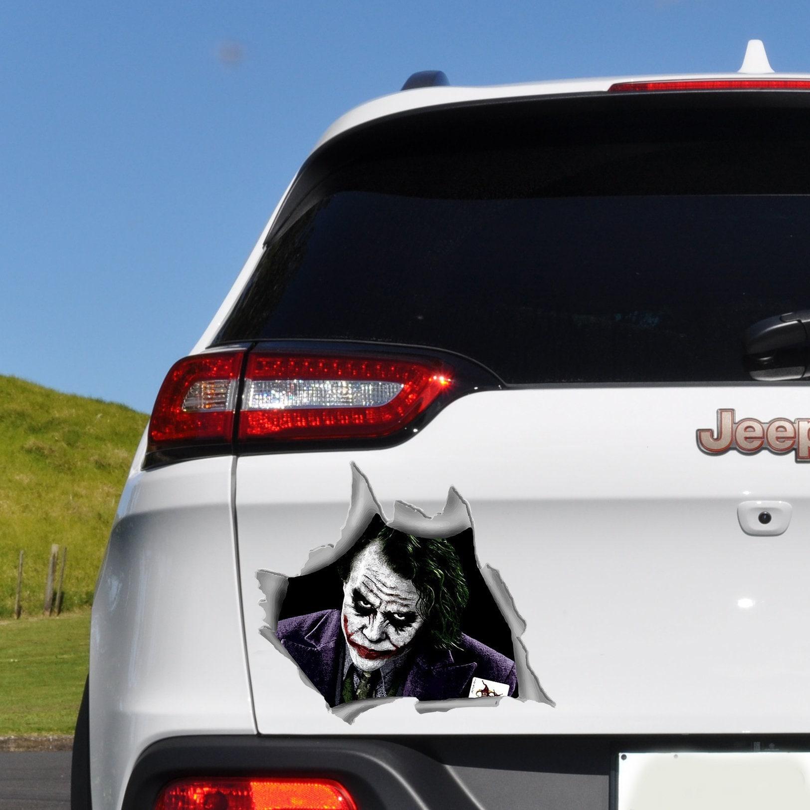 Joker car decal joker decal car bumper sticker car accessories car window decal car sticker car decal for man horror sticker o48