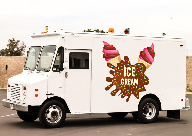 Full Color Decal Ice Cream Truck Decals Stickers for Cars Trucks RM4 Full Color Decals Car Stickers Ice Cream Decals Decal For Truck