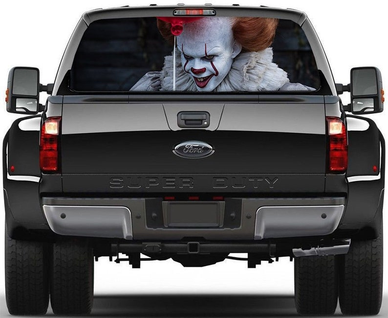 4d5f396c11 Pennywise Car Decal. Perforated Window Decal. Pennywise