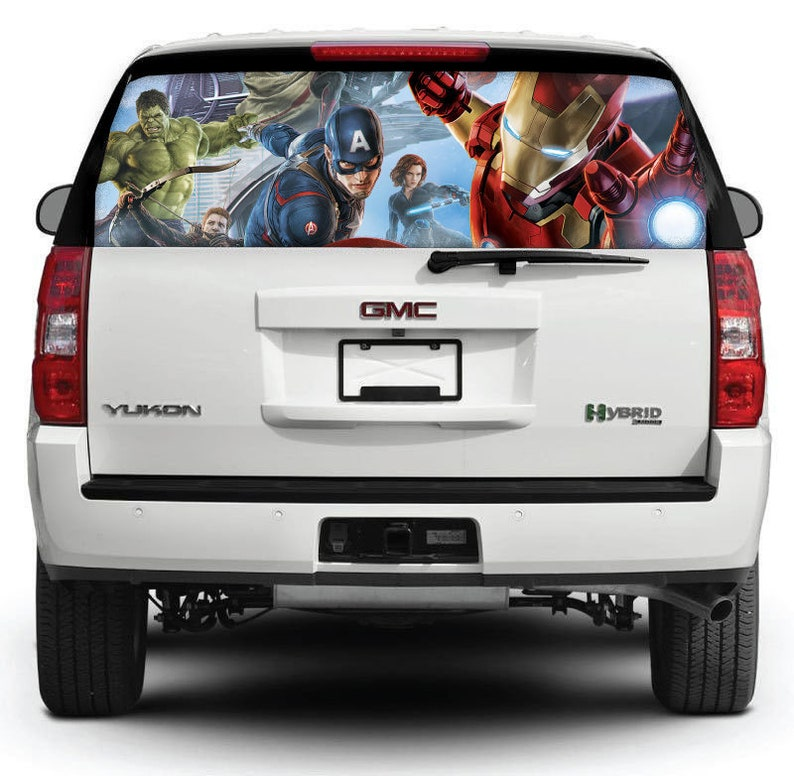 Truck Back Window Decals >> Iron Man Decal Rear Window Car Decal Truck Rear Window Graphics Car Window Decal Marvel Sticker Car Decals Car Accessories M64