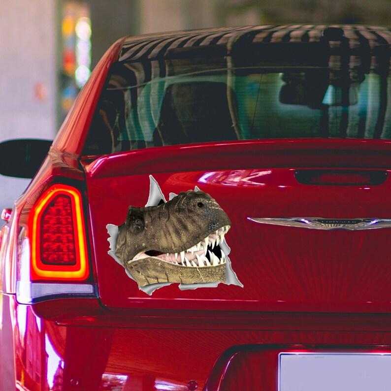 a8261f7aeb Dinosaur Car Decal Jurassic Park Car Bumper Sticker Car