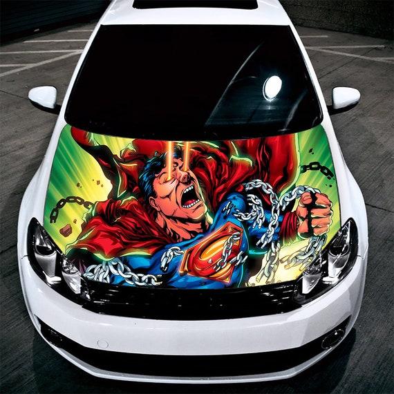 Superman Auto Aufkleber Auto Kapuze Aufkleber Autoaufkleber Marvel Aufkleber Horror Aufkleber Autozubehör Auto Aufkleber Aufkleber Für Auto H20
