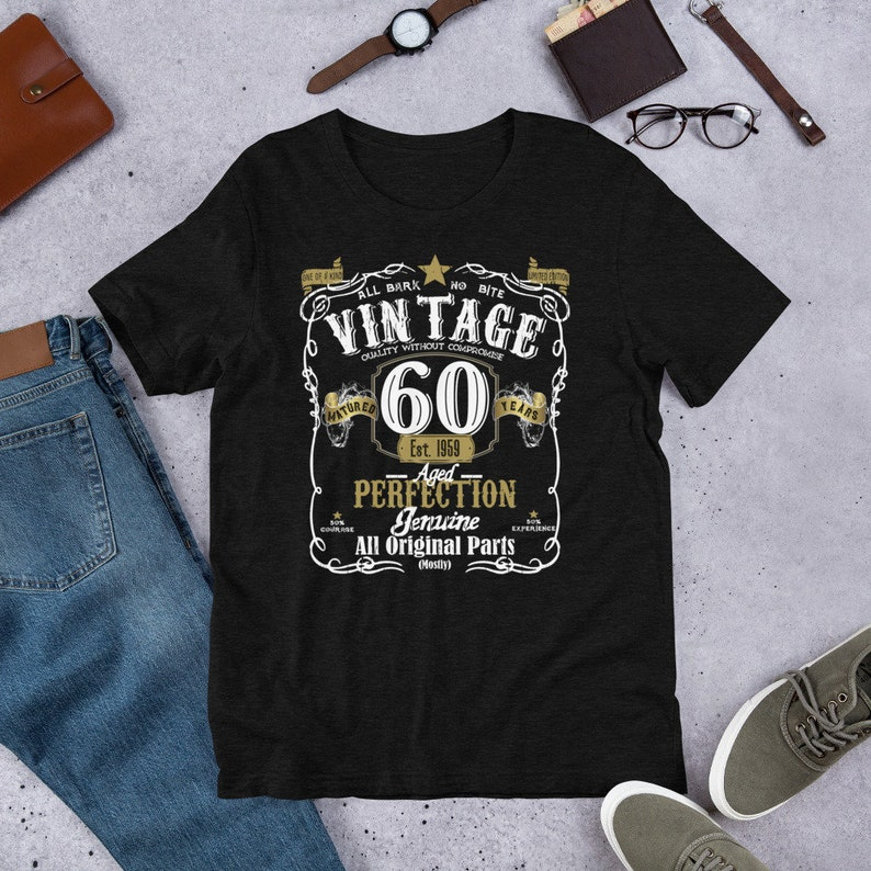 70b5185b Vintage 1959 Shirt 60th Birthday Shirt For Men and Women | Etsy