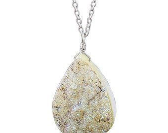 Multi Color Quartz Druzy Mix  Pendant Necklace Silver Plated Brass Pendant Wholesale Lot Mix Shape /& Size Quartz Druzy Pendant Jewelry