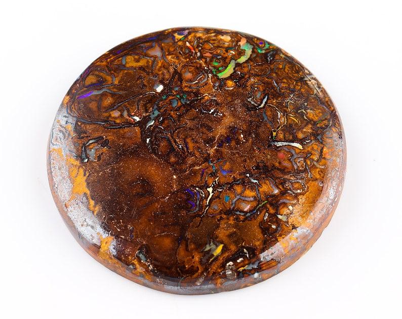 Natural Gemstone Cabochon 115 Cts Australian Boulder Bolder Opal Cabochon Gemstone Lightning Ridge Koroit Opal Size Approx 43 mm