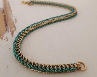 Green & Gold Bracelet