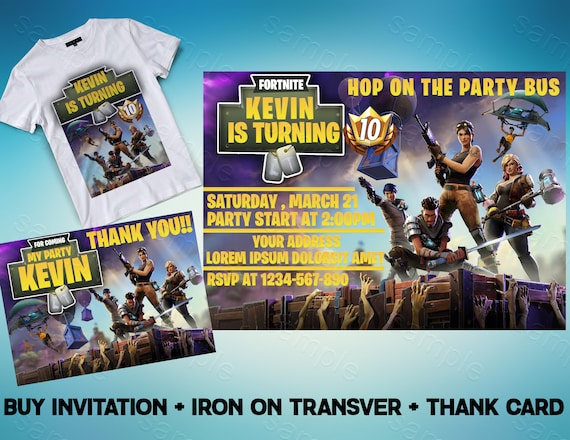 Fortnite Birthday Invitations Fortnite Invitation Fortnite