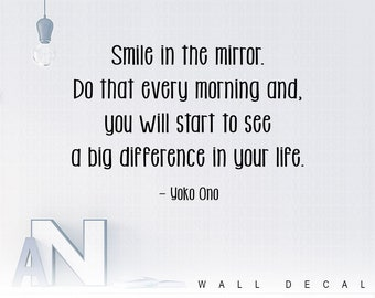 Motivational Print Smile In The Mirror Do That Every