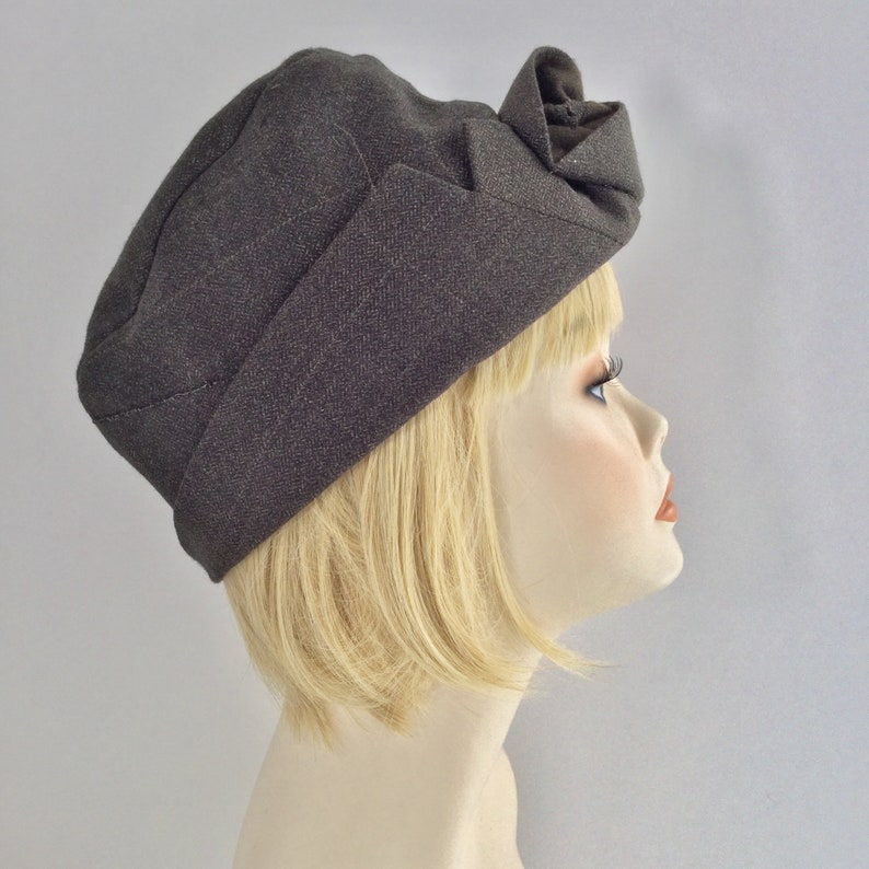 33d9cf2be78e5d Hat: quirky brown vintage style hat made from man's suit   Etsy
