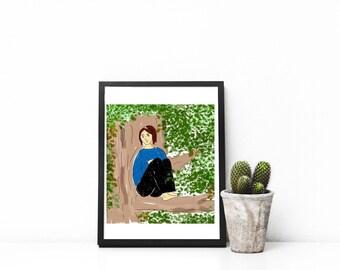 Customized illustration| Gift | Family portrait illustration |Printable | Custom Portrait |Drawing