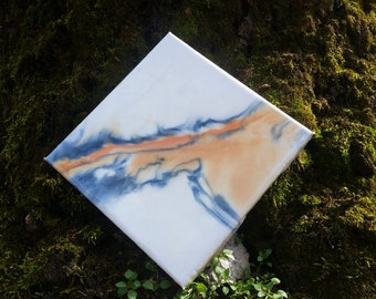 Original epoxy resin abstract painting