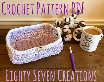Basket of Scones Crochet Pattern PDF