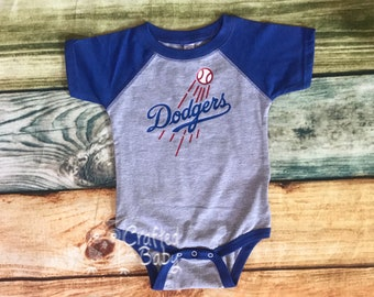 dec50f7f Los Angeles Dodgers Baby Raglan Bodysuit Toddler Child Youth Adult Shirt