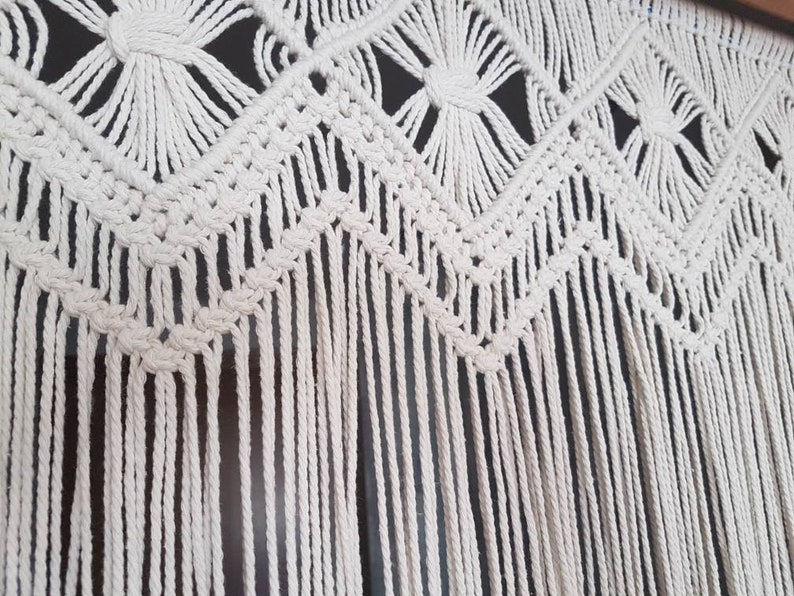 Macrame curtain large raw color macrame wedding arch wall hanging photo backdrop cotton macrame alter macrame for door and window