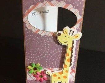 Giraffe Baby Shower cards