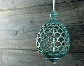 Ceramic blue egg - aroma adornment